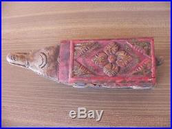 Ancienne sculpture en bois sculptée elephant de birmanie début XXème