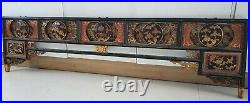 Ancienne tête de lit chinois en bois sculpté Meuble Asie