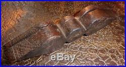 Art populaire bois sculpté ancienne boite à épices alpes Queyras