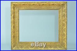 Beau Cadre Ancien en bois doré Empire Palmette frame Cornice 8f standard Tableau