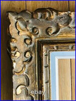 Beau Cadre ancien bois sculpté Doré Montparnasse Format 15 F 65 x 54 cm