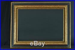 Beau cadre ancien Bois doré large moulure profil inversé Cassetta Tableau frame