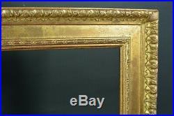 Beau cadre tableau ancien Marque Delf moulure bois Doré Cornice Frame