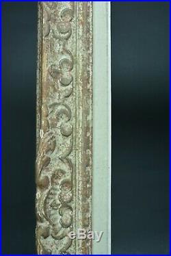 Beau cadre tableau ancien Montparnasse Fleur de lys bois Cornice Frame 10/12 f