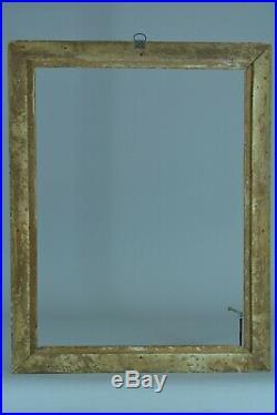 Beau cadre tableau ancien époque Louis XVI Piastres Perles antique picture frame