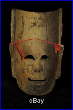 Beau et ancien lot de trois masques théâtre Chinois XIXeme / Bois sculpté opera