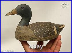 Bel ancien appelant de chasse en bois sculpté canard art populaire