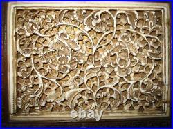 Boite coffret ancien bois sculpté Chine XVIII ème siècle local pick-up only