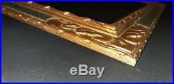 CADRE ANCIEN BOIS SCULPTE DORÉ PROFIL INVERSÉ 20f POUR TABLEAU 73x60 cm FRAME