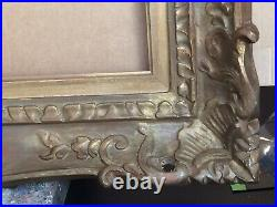 CADRE ANCIEN BOIS sculpté PATINE format standard 12F MONTPARNASSE STYLE LXV