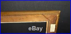 CADRE ancien doré clefs et canaux Epoque XIXème bois pour tableaux 49 x 38 cm