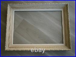 Cadre Ancien Bois Moulure Sculpte 15m Deco Tableau Toile Peinture 65x46