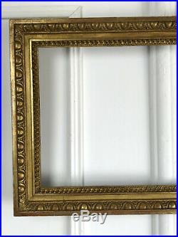 Cadre Ancien En Bois Doré De Style Louis XVI Pour Peinture 58 CM X 32,5 CM