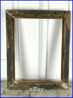 Cadre Ancien En Bois Et Stuc Doré Pour Peinture 48 CM X 36 CM