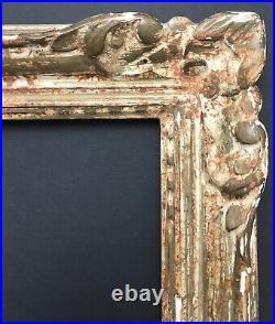 Cadre Ancien Montparnasse Bois Sculpté Patiné 28x18 vue 30x20 cm feuillure