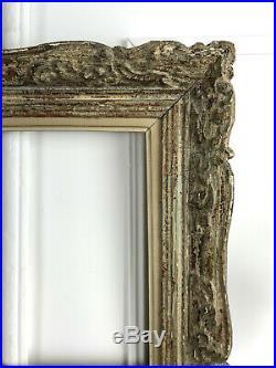 Cadre Ancien Montparnasse En Bois Sculpté Patiné Pour Peinture 46 CM X 38 CM
