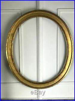 Cadre Ancien Oval En Bois Doré Pour Peinture 69,5 CM X 58,5 CM
