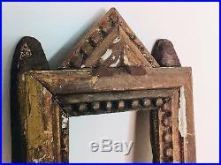 Cadre Ancien/cadre Doré /Bois Sculpté/16eme Siècle/tabernacle/antique Frame