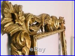 Cadre Ancien/cadre Doré/Bois Sculpté À La Feuille Dor Italie/antique Frame/75cm