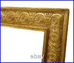 Cadre Ancien de 1900 en bois doré et sculpté 46x34 cm à l'intérieur