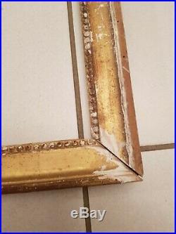 Cadre Ancien en bois sculpté doré époque Louis XVI, XVIII ème s