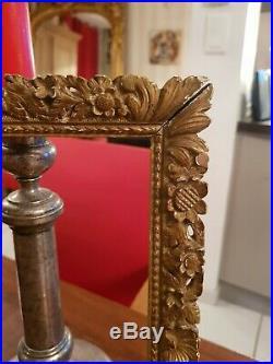 Cadre Ancien en bois sculpté et doré époque XIX ème s dorure à la feuille d'or