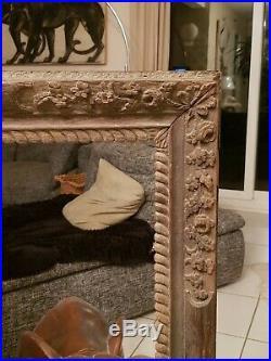 Cadre Ancien en bois sculpté grand modèle époque XVIII ème s