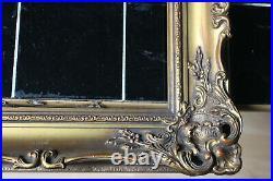 Cadre Montparnasse ancien 30cm x 24cm Bois Stuc sculpté et doré