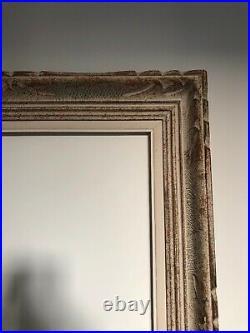 Cadre Montparnasse ancien bois sculpté format 10f 55x46 cm