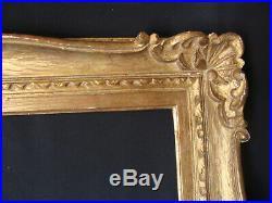 Cadre Montparnasse ancien en bois doré et sculpté style Louis 15
