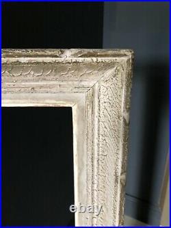 Cadre Montparnasse ancien en bois sculpté 84,5 X 65,5 cm Feuillure 73 X 54 cm
