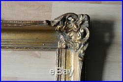 Cadre Montparnasse style ancien 71cm x 51cm Bois Stuc sculpté et doré
