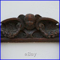 Cadre Renaissance BOIS SCULPTE ancien Wooden carved frame Cornice legno Rahmen