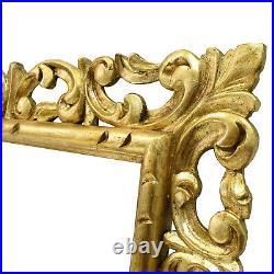 Cadre Sculpté Ancien de XIXéme en bois ajouré et doré 50x40 cm à l'intérieur