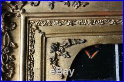 Cadre ancien 28,5cm x 22cm Louis XV Bois Stuc sculpté et doré