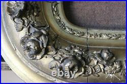 Cadre ancien 30cm x 25cm XIXème Bois Stuc sculpté et doré