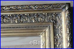 Cadre ancien 38 x 26cm Bois sculpté et doré