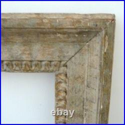 Cadre ancien Louis XVI bois sculpté & patiné XIXème 43 x 36cm