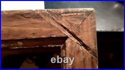Cadre ancien à canaux doré début XIXe assemblé a clef 34,5 x 24 cm p5