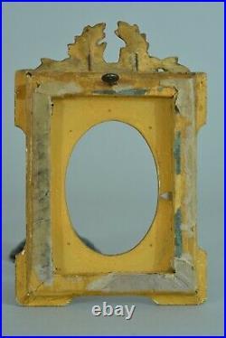 Cadre ancien bois doré ovale miniature rinceau louis XVI Miniature frame cornice