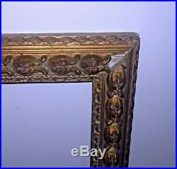 Cadre ancien bois et stuc doré dimensions de feuillure 48 x 35 cm PROCHE F8