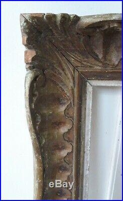 Cadre ancien bois sculpté