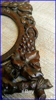 Cadre ancien bois sculpté à la main de sarments de vigne XIX ème Art populaire