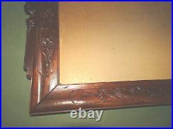 Cadre ancien en bois sculpté de chauve-souris. Chine, Indochine. Monoxyle
