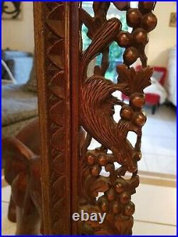 Cadre ancien en bois sculpté, foret noire, black forest XIX ème s