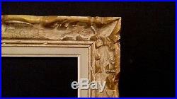 Cadre ancien montparnasse bois sculpte f2 standard 24 x 19 cm tres belle patine