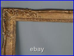 Cadre ancien style Louis XV bois sculpté doré 69,5x54 feuillure 58,8x43,8 cm SB