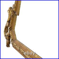 Cadre de Mirroir Ancien de 1880-1900 en bois sculpté décoré Feuillure 72x47