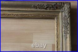 Cadre empire ancien 49cm x 39cm XIXème Bois Stuc sculpté et doré