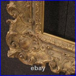Cadre français sculpté et doré en bois et plâtre style ancien 900